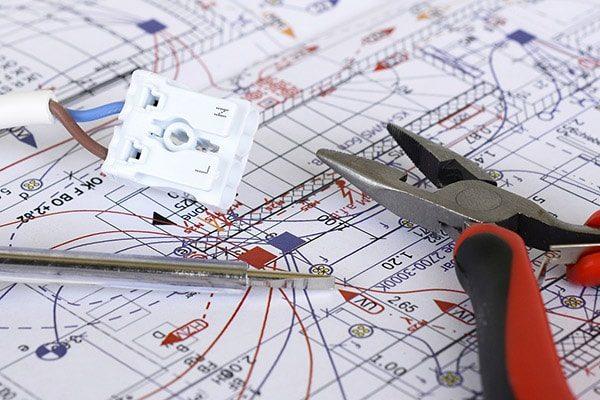 elektriker nørrebro el-entreprise plantegning ledning